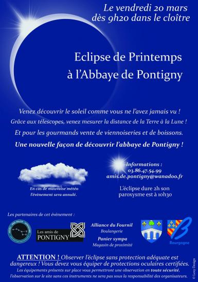 Affiche eclipse 20 mars