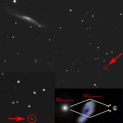 Ngc3079 twin quasar uma