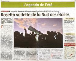 Yonne Republicaine- Nuit des étoiles 2014